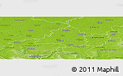 Physical Panoramic Map of Peine
