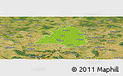 Physical Panoramic Map of Peine, satellite outside