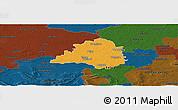 Political Panoramic Map of Peine, darken