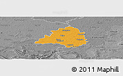 Political Panoramic Map of Peine, desaturated