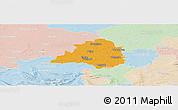 Political Panoramic Map of Peine, lighten