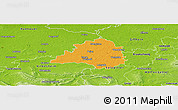 Political Panoramic Map of Peine, physical outside