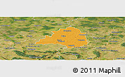 Political Panoramic Map of Peine, satellite outside