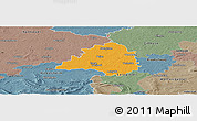 Political Panoramic Map of Peine, semi-desaturated