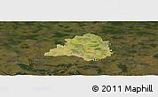 Satellite Panoramic Map of Peine, darken
