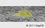 Satellite Panoramic Map of Peine, desaturated