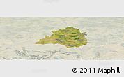 Satellite Panoramic Map of Peine, lighten