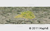 Satellite Panoramic Map of Peine, semi-desaturated
