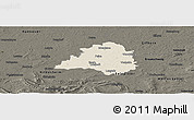 Shaded Relief Panoramic Map of Peine, darken