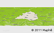 Shaded Relief Panoramic Map of Peine, physical outside
