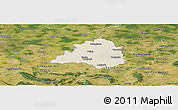 Shaded Relief Panoramic Map of Peine, satellite outside