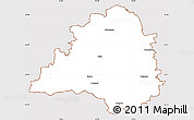 Classic Style Simple Map of Peine, cropped outside