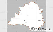 Gray Simple Map of Peine, cropped outside