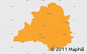 Political Simple Map of Peine, single color outside