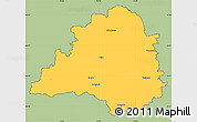 Savanna Style Simple Map of Peine, cropped outside