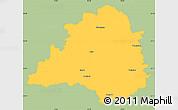 Savanna Style Simple Map of Peine, single color outside