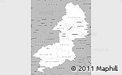 Gray Simple Map of Braunschweig