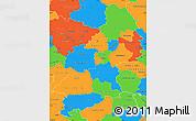 Political Simple Map of Braunschweig