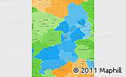 Political Shades Simple Map of Braunschweig