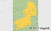 Savanna Style Simple Map of Braunschweig