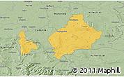 Savanna Style 3D Map of Wolfenbüttel
