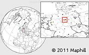 Blank Location Map of Wolfenbüttel