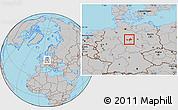 Gray Location Map of Wolfenbüttel