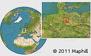 Satellite Location Map of Wolfenbüttel