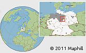 Savanna Style Location Map of Wolfenbüttel, highlighted country, highlighted grandparent region