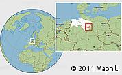 Savanna Style Location Map of Wolfenbüttel, highlighted grandparent region