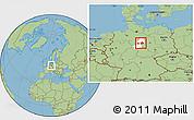 Savanna Style Location Map of Wolfenbüttel, highlighted parent region