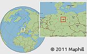 Savanna Style Location Map of Wolfenbüttel