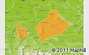 Political Map of Wolfenbüttel, physical outside