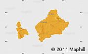 Political Map of Wolfenbüttel, single color outside