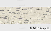 Shaded Relief Panoramic Map of Wolfenbüttel