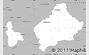 Gray Simple Map of Wolfenbüttel