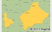 Savanna Style Simple Map of Wolfenbüttel