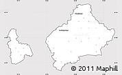 Silver Style Simple Map of Wolfenbüttel, cropped outside