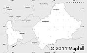 Silver Style Simple Map of Wolfenbüttel