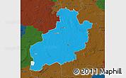 Political Map of Diepholz, darken