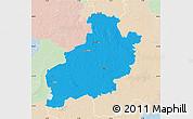 Political Map of Diepholz, lighten