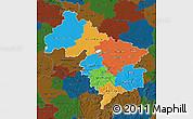 Political Map of Hannover, darken