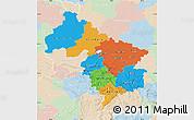 Political Map of Hannover, lighten