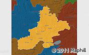 Political Map of Nienburg, darken