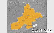 Political Map of Nienburg, desaturated