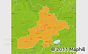 Political Map of Nienburg, physical outside