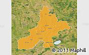 Political Map of Nienburg, satellite outside