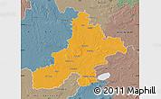 Political Map of Nienburg, semi-desaturated