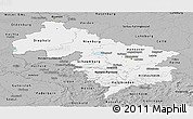 Gray Panoramic Map of Hannover