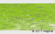 Physical Panoramic Map of Hannover